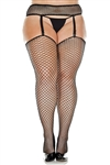 2 PC - Industrial Net Garter Belt And Stockings