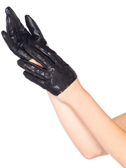 Cropped Sequin Gloves