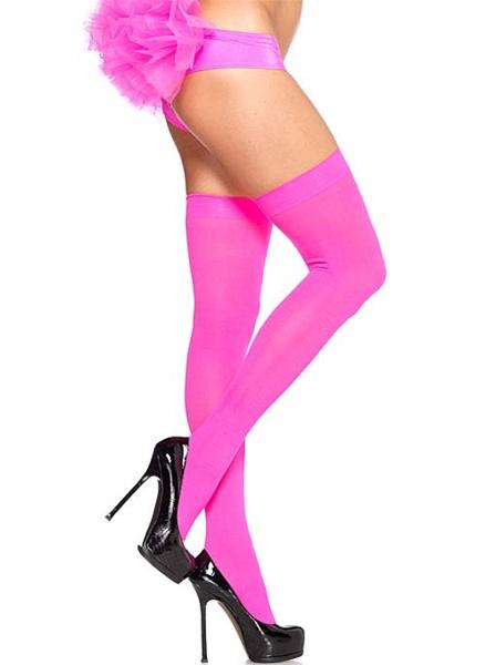 Opaque Nylon Over The Knee Stockings