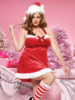 Santa'S Helper Halter Dress -Plus Size