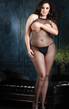 Open Bust And Crotch Fishnet  Plus Size Bodystocking