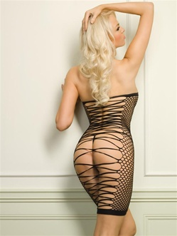 Seamless Dress With Strappy Open Back