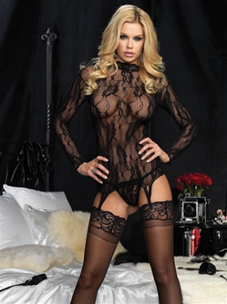 Lace Gartered Top 2 PC Set