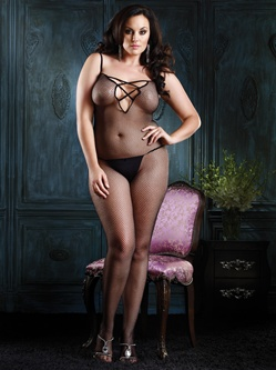 Open Crotch Plus Size Bodystocking