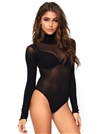 Opaque High Neck Snap Crotch  Bodysuit