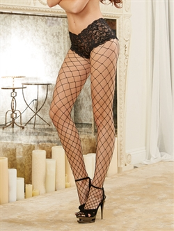 Attached Lace Short Fishnet Pantyhose