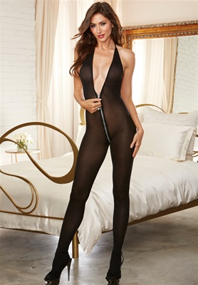 Front To Back Zipper Bodystocking