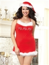 "Holiday Plus Size ""Ho Ho Ho"" Chemise With Hat"