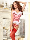 """Candy Cane Crush"" Holiday Crotchless Set"