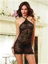Sexy Stretch Lace Chemise Set