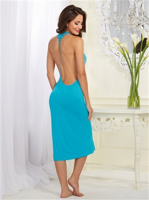 Cotton Open Back Venice Trim Gown