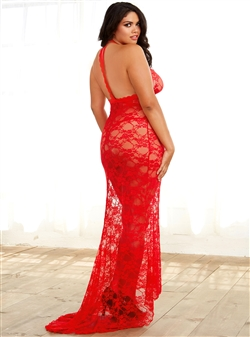 Sexy Plus Size Mermaid Gown Set