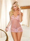 Pin Up  Mesh Flyaway Babydoll 2 PC Set