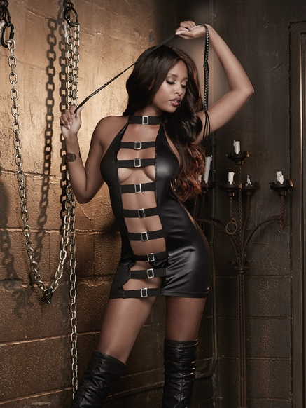 Buckle Front Chemise And Whip