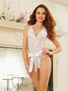 White Lace Wrap Around Bridal Teddy