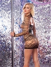 Large Net Dancer Dress With Long Sleeved Shrug