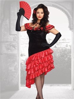 SPANISH DANCER 2 PC Plus Size Costume