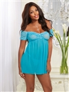 Adorable Off The Shoulder Babydoll Set
