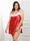 Holiday Plus Size Satin Toga Chemise