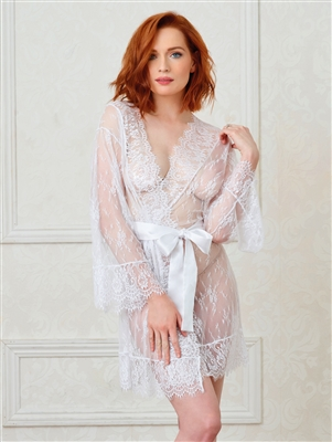 Luxurious Lace Robe With Belt