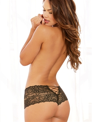 Lace Open Crotch Boy Short
