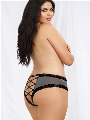 Sexy Plus Size Lace Up Back Cheeky Panties