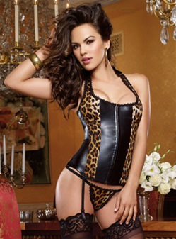 Liquid Shine 2 PC Corset Set