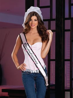 Light UP Sash, Veil And Thong Set