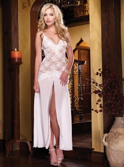 Lace And Chiffon Gown 2 PC Set