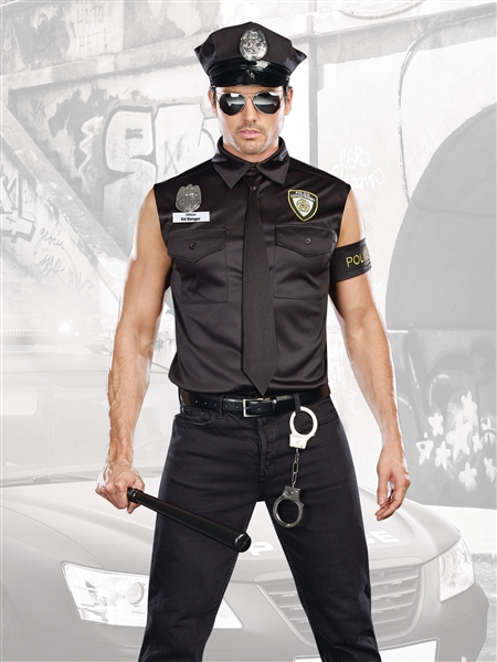Dirty Cop Officer Ed Banger 6 Pc Costume