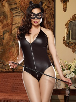Fetish Feline Lingerie Plus Size Sexy 4 PC Set