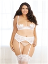 Lace Open Cup Underwired Shelf Bra