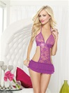 Flirty Stretch Lace Apron Babydoll  Set