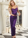 Satin Camisole And Low-Rise Pants