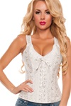 Brocade Corset With Straps