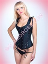 Racer Back Brocade 2 PC Corset Set