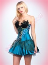 Peacock Princess 3 PC Corset Set