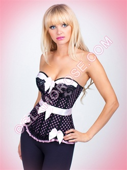 Polka Dot And Bows Sexy Bustier Set