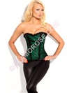 Steel Boned Lace Overlay Corset With Beads
