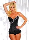 Steel Boned Deep Plunge Satin Corset