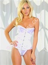 Steel Boned Corset In White Satin