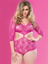 Plus Size Elegant Lace Teddy