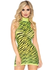 Neon Zebra Racerback Mini Dress