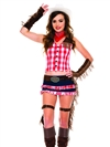 Gun Slinging Hottie 6 PC Costume