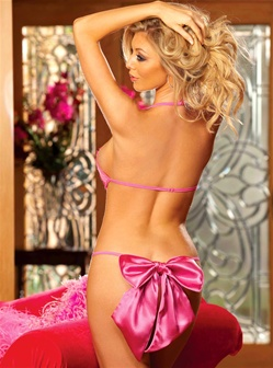 Revealing Teddy With Bow Back