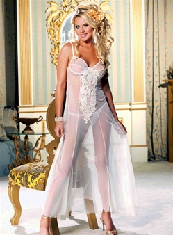 Elegant Net Long Gown Set
