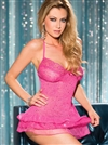 All Over Sequined  Ruffled Chemise Set