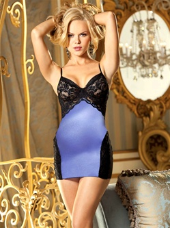 Lycra And Lace Chemise Set