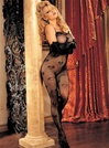 Heart Print Open Crotch Bodystocking