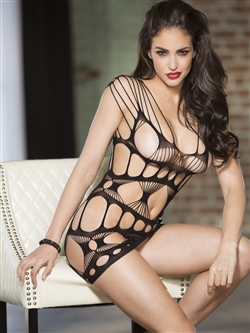 Stretchy Geometric Strappy Chemise